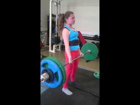 DSI - Yasmina 12 år perser i markløft 90 kg