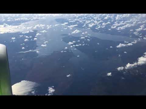 Полет и посадка  аэропорт Домодедово на самолете Airbus A320 - S7 Airlines