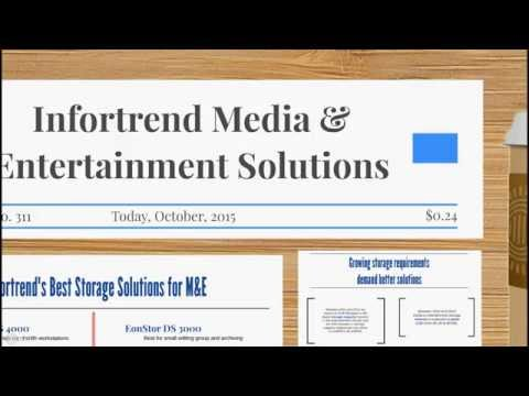 Media & Entertainment Solutions with Infortrend Storage