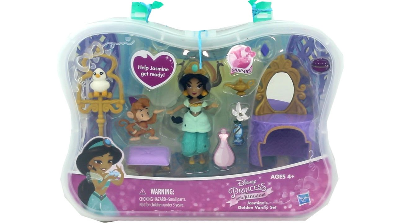 Disney princess little kingdom snap in jasmines golden vanity set disney princess little kingdom snap in jasmines golden vanity set unboxing review geotapseo Images