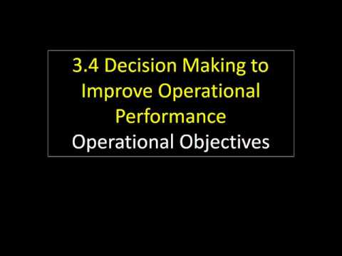 3.4 2 Operational Objectives