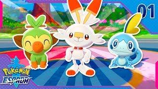 Pokémon Espada Ep.1 - ¡BIENVENIDOS A LA REGIÓN DE GALAR! (Parte 1 en Español)