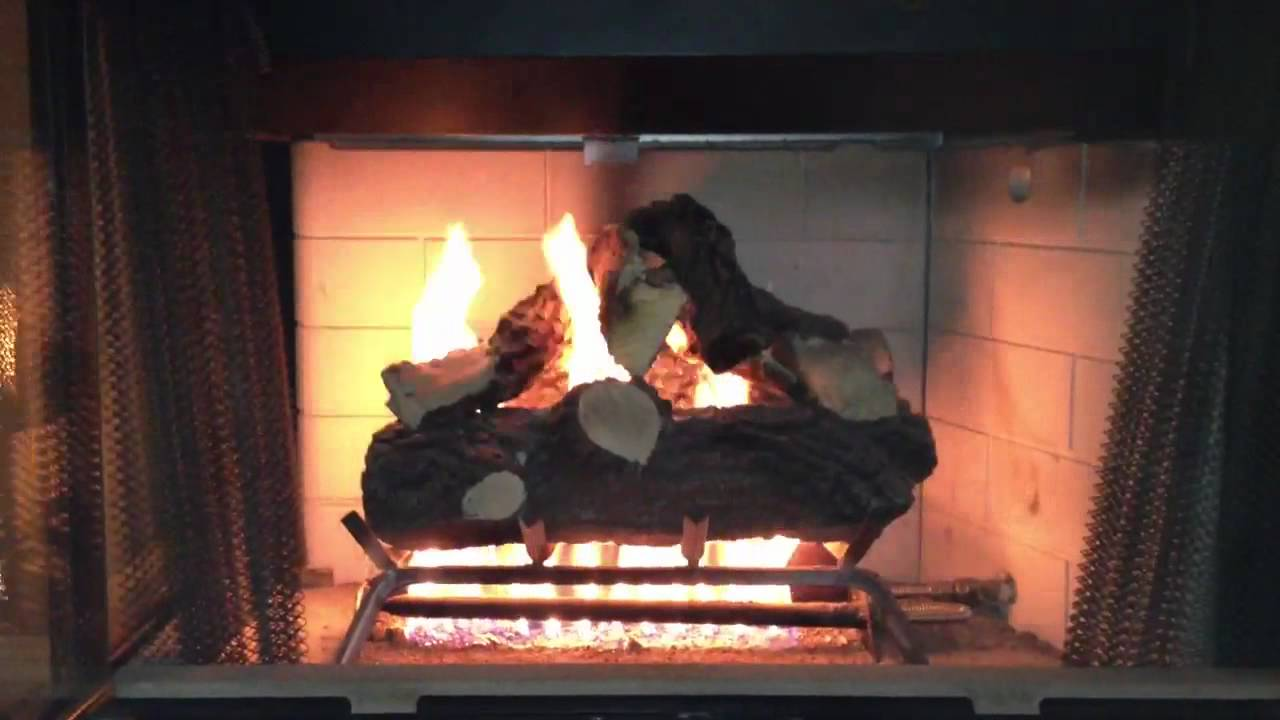 Using the fireplace for the first time this season. - YouTube