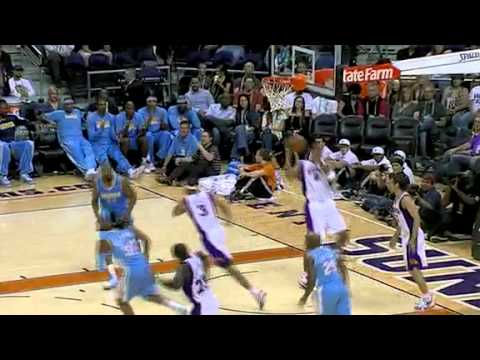 J R Smith alley oop assist to Anthony Carter for the reverse lay up Denver Nuggets Preseason