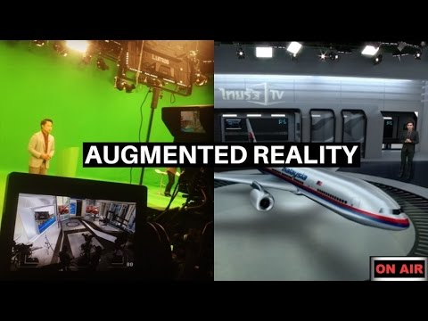 Augmented Reality in television news-LED lighting for virtual studio background(green screen light )