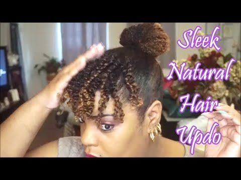 Sleek Edges...Natural Hair Updo feat Eco Styler Coconut Styling Gel | ❤LifeWithLisa343💋