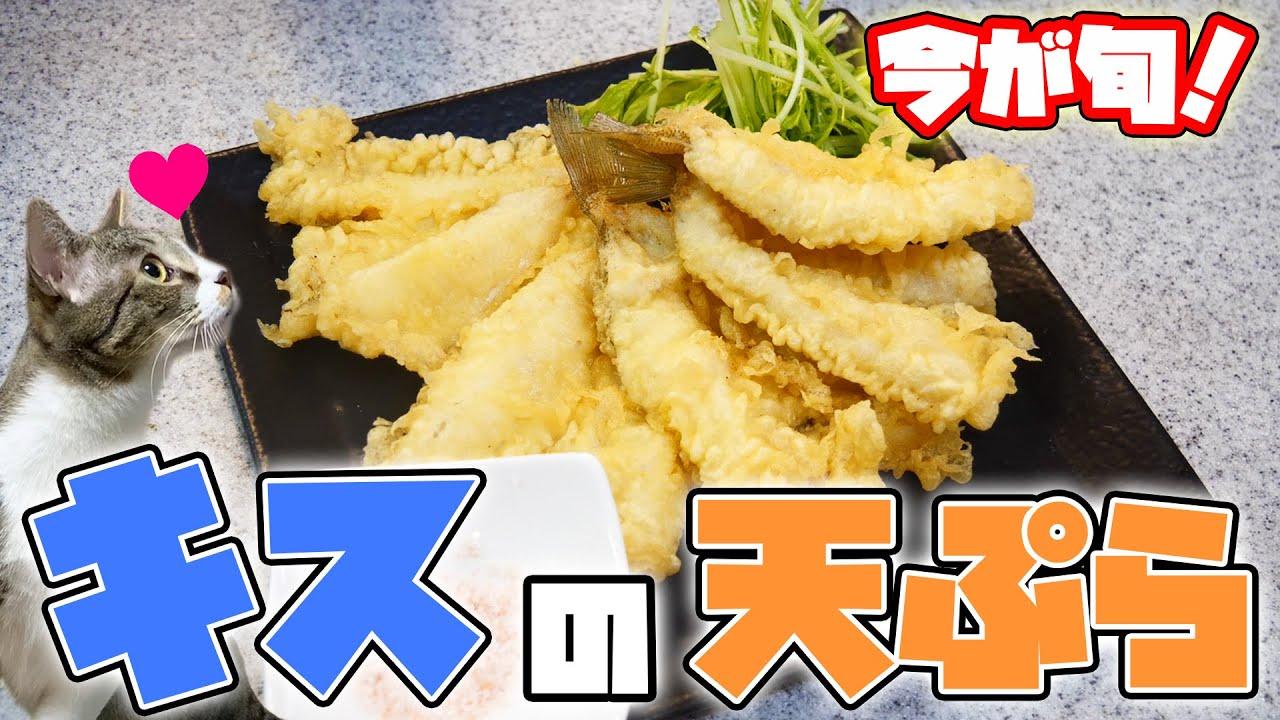 【最高】今が旬!脂がのったキスで作る天ぷらが極上すぎる...!!