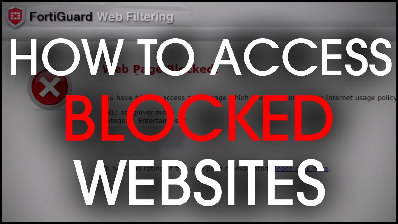 How to access blocked websites 2016 tutorial fortiguard youtube ccuart Images
