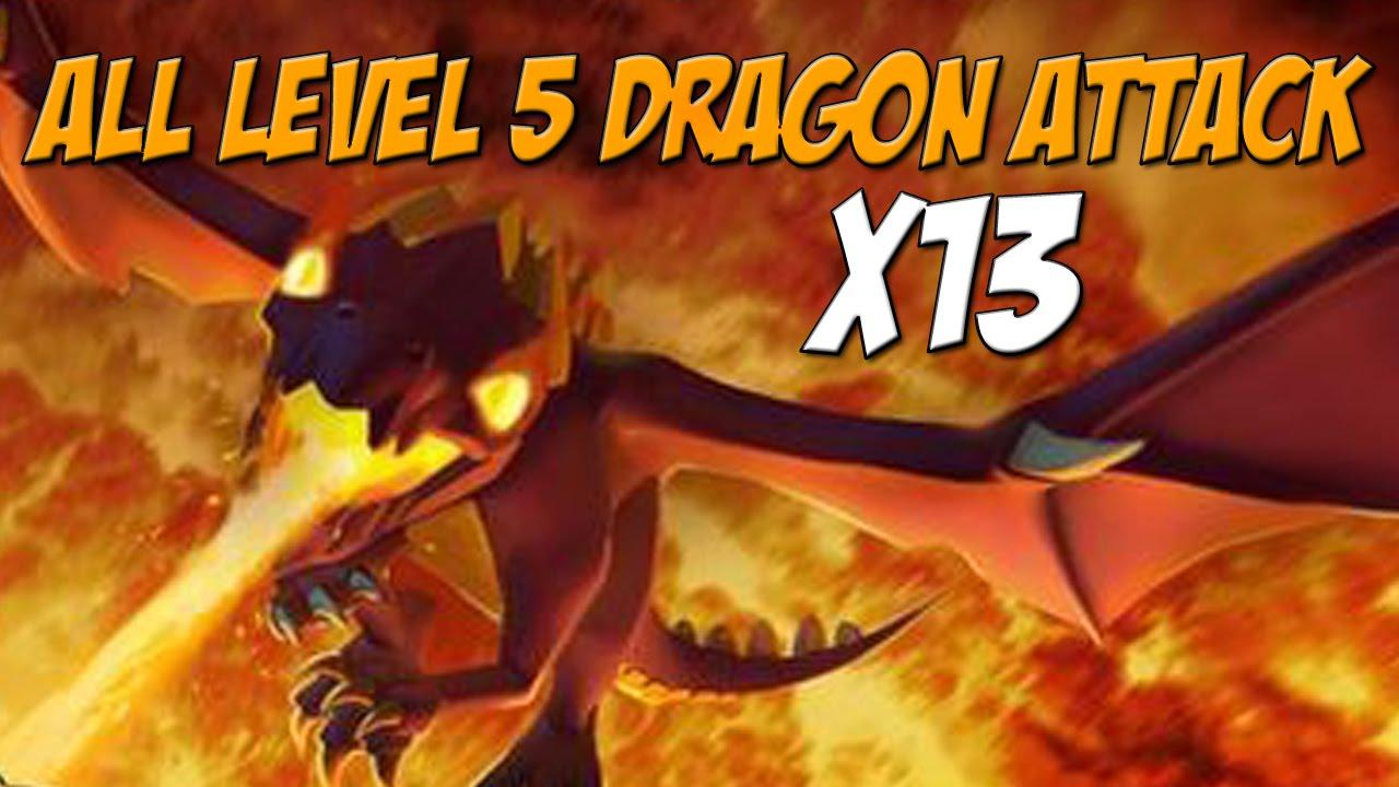 lvl 5 dragon attack