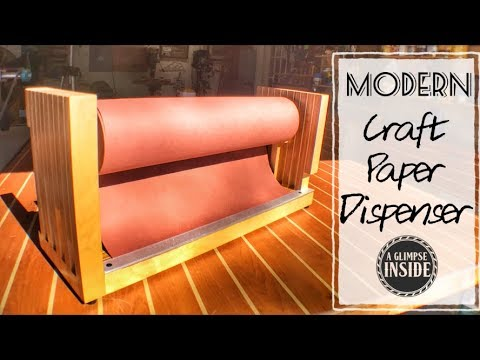 Modern Craft Paper Dispenser | DIY | 1 part of a 2 part series
