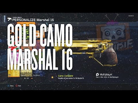 Black Ops 3 Gold Camo Marshal 16 Secondary Weapon (All Camos Unlocked)