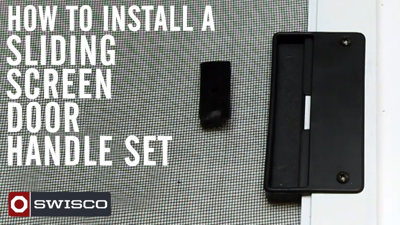 How to install the 83-002 sliding screen door handle set - YouTube