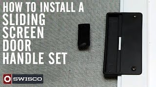 How To Install The 83-002 Sliding Screen Door Handle Set