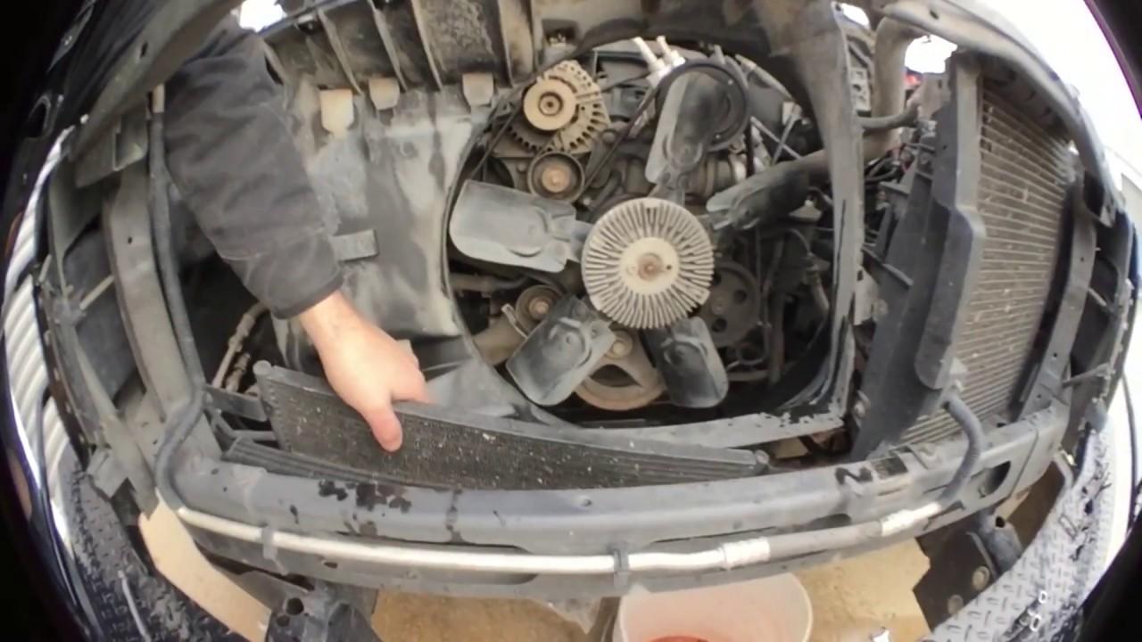 How To Install A Radiator In 2003 Dodge Ram 1500 57l Hemi 4x4 Electric Fan Shroud Also 2002 4 7 Engine Diagram With Josh Lewellen