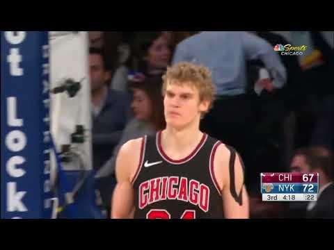 Chicago Bulls'un çaylağı Lauri Markkanen'in 8 üçlük isabetiyle devleştiği NY Knicks maçı performansı