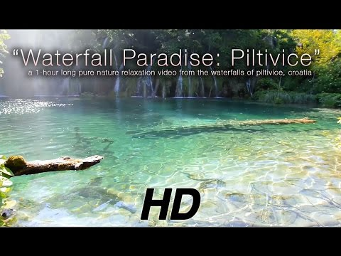 Waterfall Paradise: Plitvice Lakes, Croatia HD Nature Relaxation Video 1080p