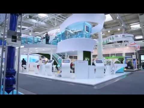 Выставочный стенд iMoscow от Дизайн Досье на международной промышленной выставке Hannover-MESSE
