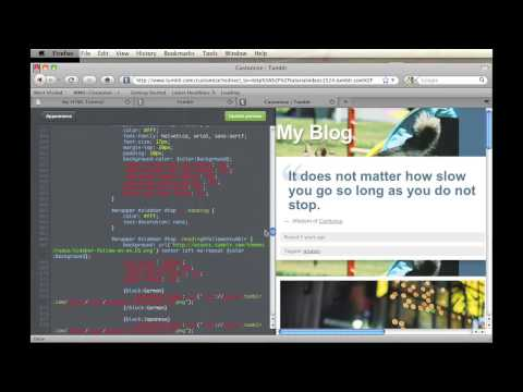 How To Move HTML Things On Tumblr