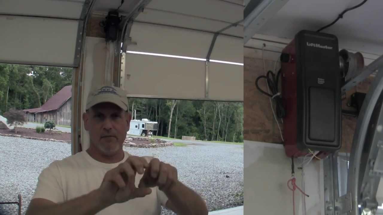 Install a Liftmaster Garage Door Opener Pt 2  YouTube