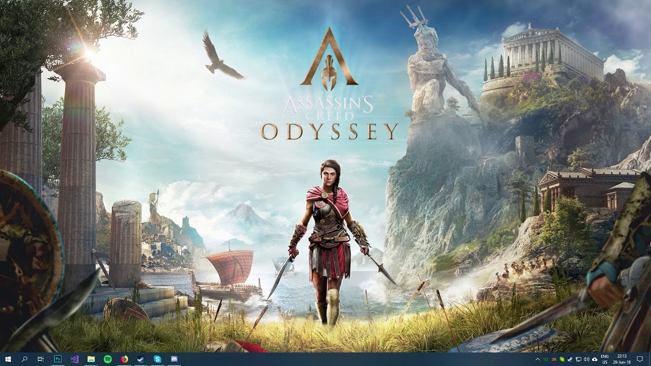 Kassandra Assassin S Creed Odyssey Wallpaper Engine Youtube