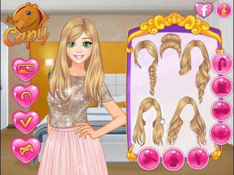 Мультик игра Одевалка: Золотые наряды (Rapunzel Golden Crush)