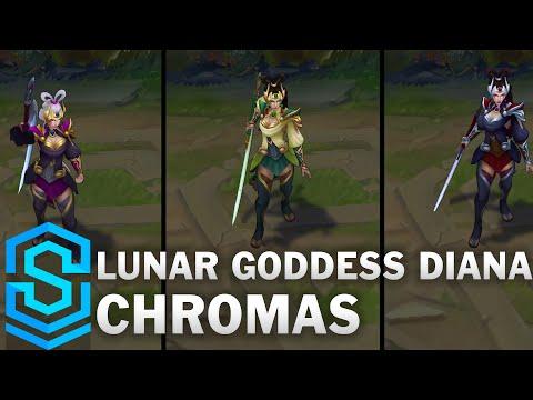 Lunar Goddess Diana Chroma Skins