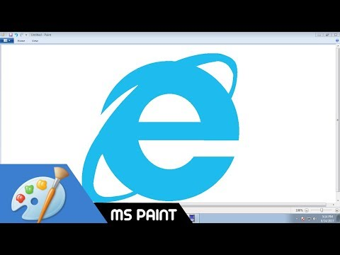 [Requested Video] Draw Internet Explorer logo in MS Paint from Scratch!