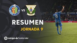 Resumen de Getafe CF vs CD Leganés (2-0)