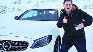 Mit Cabrio den Schneeberg rauf