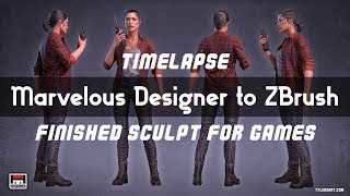 Marvelous Designer to ZBrush for a video game