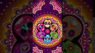 [Samsung Theme-Live Wallpaper] Colorful skull festival