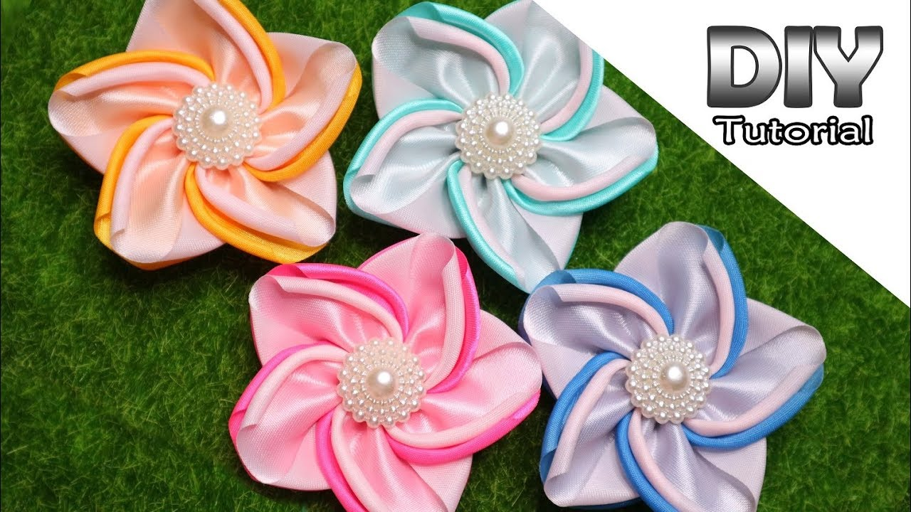 Beautiful Flower Kanzashi Flower Colorful Flower Fabric Flower
