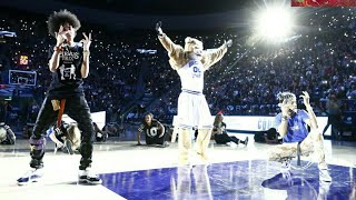Ayo and Teo + Cosmo Cougar Half Time Performance at BYU Basketball game