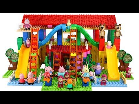 Peppa Pig Blocks Mega House Building Playset With Masha And The Bear LEGO Creations Toys Sets #7