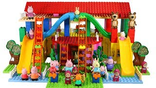 Peppa Pig Blocks Mega House Building Playset With Masha And The Bear LEGO Creations Toys Sets #7