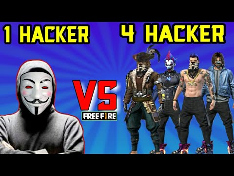 1 PRO HACKER VS 4 HACKERS IN GARENA FREE FIRE 🤦 MUST WATCH THE THIS VIDEO HACKER CAN TAKE BOYAH✌️