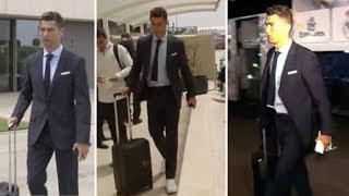 Cristiano Ronaldo arrive in Kiev for match vs Liverpool