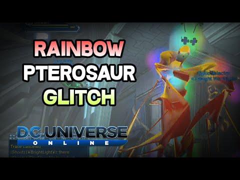 DCUO - Rainbow Pterosaur Glitch