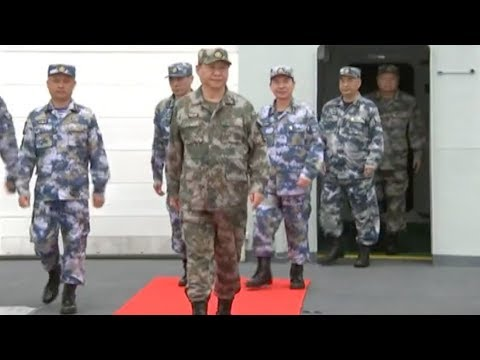 Exclusive: Chinese President Xi Jinping reviewed service personnel of PLA Navy