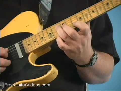 Blues Guitar Rhythm Lesson: C7 F9 Chords - YouTube