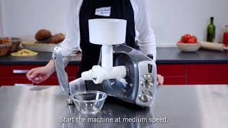 Ankarsrum grain mill attachment demo