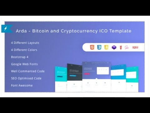 Cryptech ico and cryptocurrency psd template