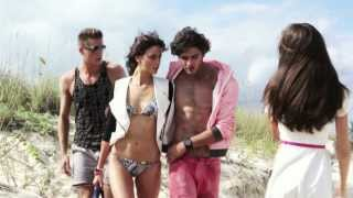 Marlon Teixeira with Alejandra Alonso - Behind the scenes Armani Exchange S/S 2013 (New)