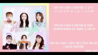 Always - Apink Lyrics [Han,Rom,Eng]