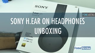 sony h ear on wireless noise cancelling headphones mdr 100abn unboxing