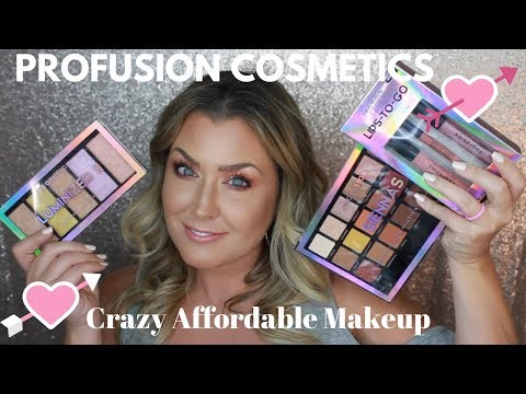 Review And Testing Out PROFUSION COSMETICS | AFFORDABLE MAKEUP || HOT MESS MOMMA MD