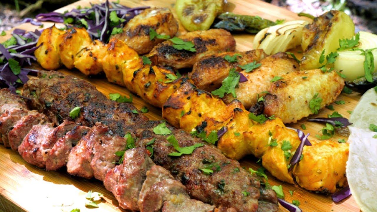 Campfire Kebabs - Mixed Grill: Lamb / Chicken Shish, Kofte & Wings