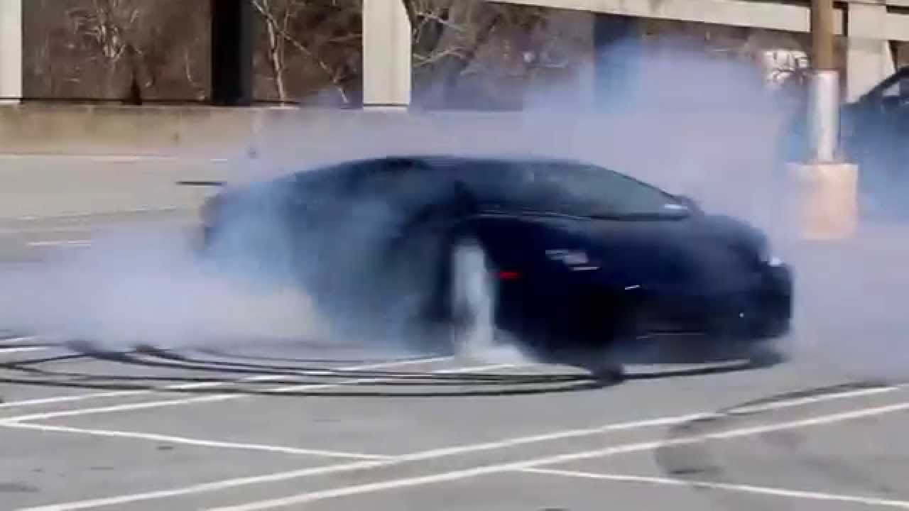 lamborghini aventador burnout amazing drifting youtube
