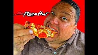 PIZZA HUT® DOUBLE CHEESY CRUST PAN PIZZA REVIEW!