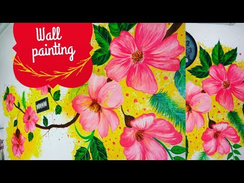 DIY /Wall Painting/ Flowers/
